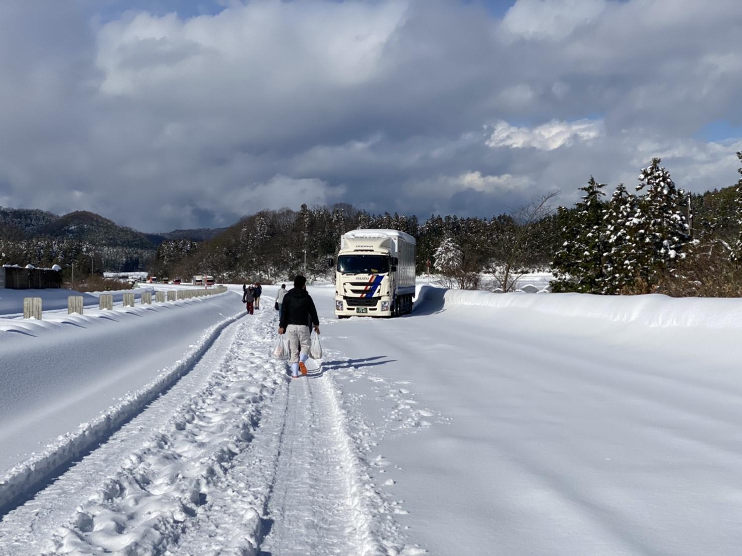 北陸道 降雪